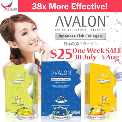 [One Week SALE!] Proven Effective ❤ #1 Collagen in Japan ❤ AVALON™ Japanese Fish Collagen 3 Flavours with Antioxidants ❤ 100% Pure Premium Collagen ❤ Anti Aging