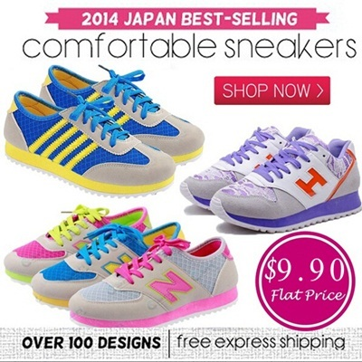 【25/9 Update】$9.90 Flat Price! 2014 Japan No 1 Women Wedge Heels Sport Shoes Collection Free Shipping!