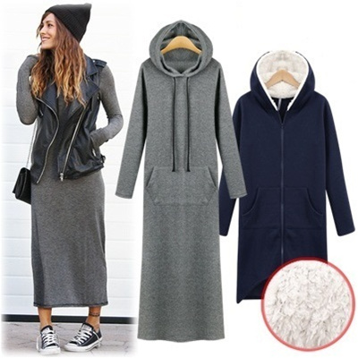★GET EXTRA 20% OFF STOREWIDE For Every $20 Spent★ Free-Shipping]Hood long Dress/ Excellent elasticity/ women fashion women clothing winter / Brudhed Hood Dress Added !!!!