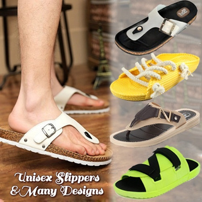 2014 cowhide insole 50 styles cork slippers summer beach flip flops slippers comfortable flip shoes