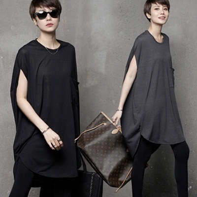 [HALUMAYBE][FREE SHIPPING]1002_1 Loose Fit Sleeveless T-shirt
