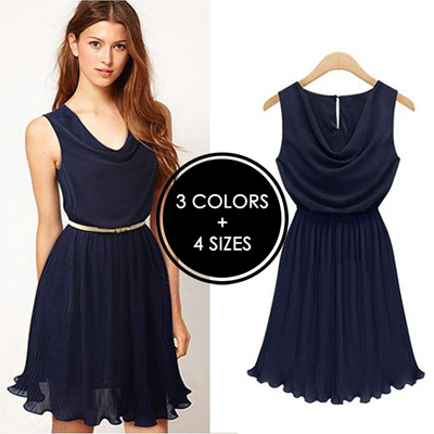 UK Europe Fashion Sleeveless Dress for Casual Work Party Date