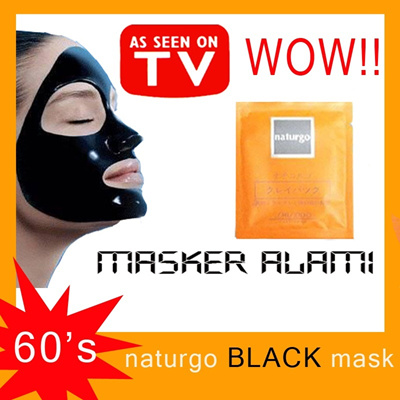 ★60pcs!!★Naturgo Masker Black Mud Mask★★ 1pc // SHISEIDO [BEST DEAL and Product 100% ORIGINAL]