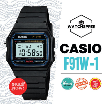[CHEAPEST PRICE IN SPORE] *CASIO GENUINE* Digital Watch F91W-1 Free Shipping!