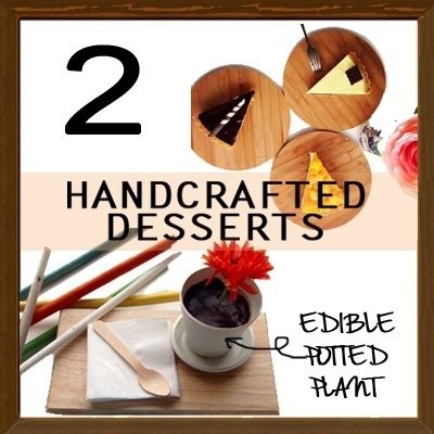 #cafehop! $8.90 for 2 Handcrafted Desserts! Unique Creative Edible Plant Desserts. fArt tArtz café Expo. A café you will definitely fall in love with!