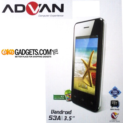 SMARTPHONE ADVAN VANDROID S3A ANDROID JELLYBEAN | DUALCORE