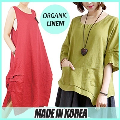 ★Korea Best Organic Linen/Cotton★NewArrival★Today Only Sale!★made/in/Korea/high Quality ★dress/top/blouse/pants/cool/bag