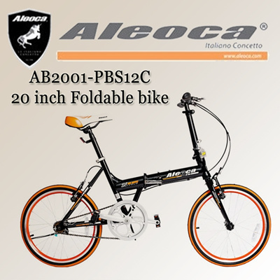[Aleoca] AB2001-PBS12C 20 inch single speed Scivolo foldable bike / folding bike/ singele speed / foldable bicycle