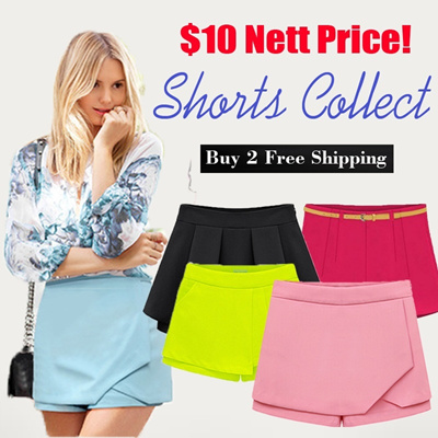*ALL IN 1 PRICE*Buy 2 Free Shipping/2014 Fashion Korean style/ denim shorts/high waist shorts/loose shorts/pleated skirt