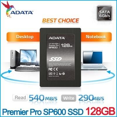 Brand New ADATA Premier Pro SP600 128 GB Solid State Drive SSD 128GB / 3.5 bracket not included