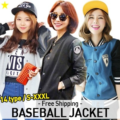 [Group Buy Deal ON!] ★Baseball jacket S-XXXL★Korean and Japanese Trend Fashion / Couple / Work / Sports Jacket / Unisex / High Quality /  Baseball Outdoor Jumper