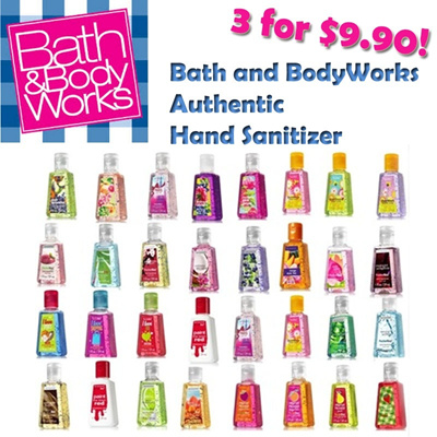 [LOWEST PRICE] 3 for $9.90! 100% Authentic Bath And BodyWorks Hand Sanitizer