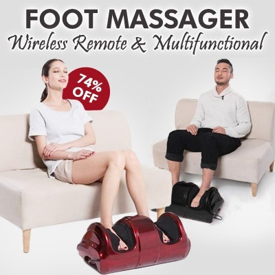 ☆Foot Massager☆Wireless Remote.Multifunction Relieve fatigue.omfortable to custom / massager/Blood circulation / Fatigue.Give yourself / family / friend the best gift~!
