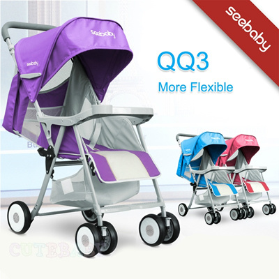 ★QQ3 Promotion with FREE cushion★ Authentic seebaby QQ1 QQ2 QQ3 light weight stroller/pram