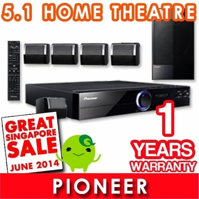LOWEST IN SINGAPORE - Pioneer 5.1 Channel Home Theatre System. DVD/VCD/MP3/CD. With USB Host Function. With HDMI Output for superb picture clarity.