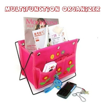 Multifunction Organizer / Storage for Magazine Book Remote Cosmetic / Folding Box