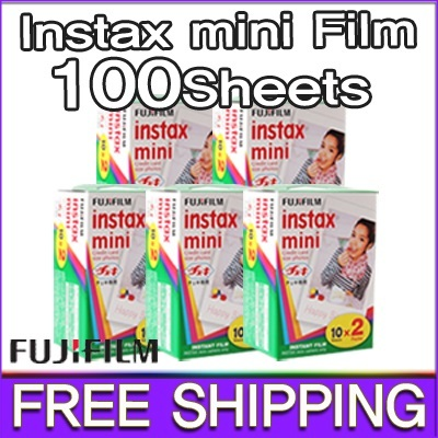 [FREE DELIVERY!][Qm100]FUJIFILM Instax Mini Film 10Packs(100Sheets)/polaroid