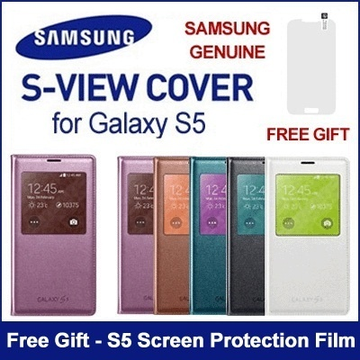 [Super Sale]★Authentic Samsung★ S5 S-View Cover for Galaxy S5 NOTE 3 / FLIP WALLET Case / S4 View Cover ★Genuine SAMSUNG KOREA★
