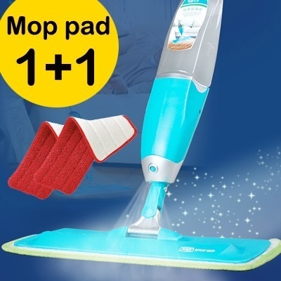 ★1+1 EVENT MOP PAD★Microfiber Spray Mop new multi-purpose floor cleaning spray mop care creative household items steam mop spin mop kitchen