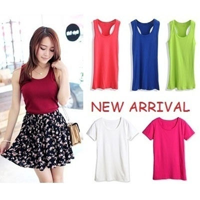 CHEAPEST!NEW COLOR TANK TOP-QUICKKKKK!!!COLOURFUL TANKTOP SPAGHETTI BAG WALLET DRESS TANK TOP