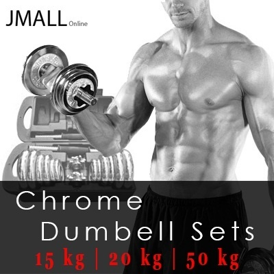 [JMall] Chrome Dumbbell Sets |15KG|20KG|50KG|