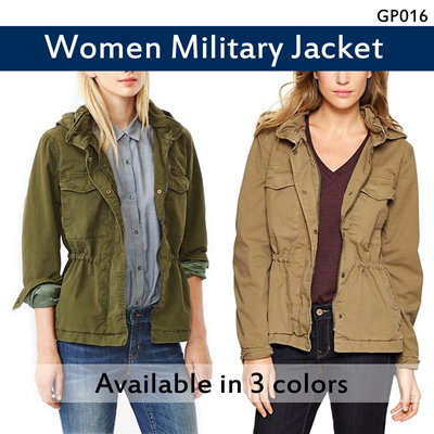 [Restock] GP Women Military Jacket |Army/Navy/Brown|100% Authentic Brand
