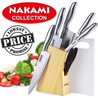 ★ NAKAMI Pisau Set-7pcs - Stainless Steel ★ THE LOWEST PRICE!!!! ★