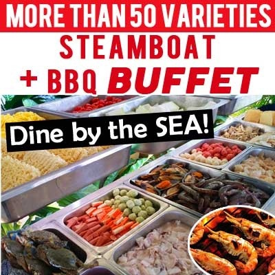SPECIAL EARLY BIRD PRICE - [Grouper King Seafood Restaurant] Steamboat + BBQ Buffet! More Than 50 Food Varieties. Dine by the SEA!