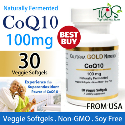 ★MUST BUY!★ 100mg CoQ10 Naturally Fermented (30 Veggie Softgels) - California Gold Nutrition USA