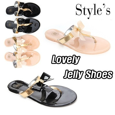 ★New arrivals★Flat Price Best Jelly Shoes Special★ Luxury Style jelly flat shoes Luxury Style Design Jelly Shoes European-style Womens Shoes Flat shoes Fashion shoes