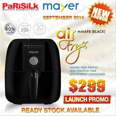 *NEW 2014 MODEL* *READY STOCKS AVAILABLE* MAYER AIR FRYER(MMAF8) - 1 YEAR WARRANTY