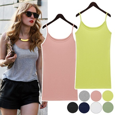 ★Free shipping★  RaYon Ecko Sleeveless Top_008707