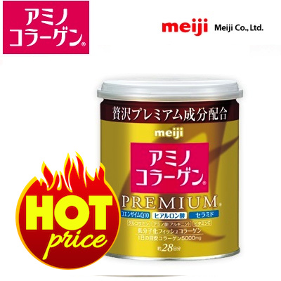 ★SALE★Meiji Amino Collagen Powder Premium Gold Can/Refill Pack