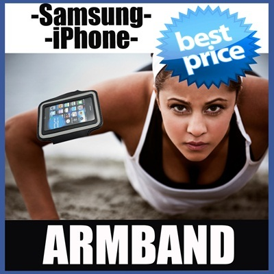 Sport Armband iPhone 5/5S/4/4S Samsung Galaxy S3 S4 Note 2/3 HTC One Sony Xperia Z