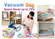 ★ Vacuum Compression Storage Bags ★ Space Saver up to 75%!!! ★ 10 Bags + 1 Pump