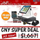 """BUNDLE 1 - 15"""" TOUCH SCREEN L-STAND POS(SGPOS-HSL) HIGH STAND L-SHAPE SCR"""