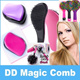 Detangling Hair Brush - Free Up Tangle / Detangling PORTABLE Hair Brush/ Comb/ TANGLE FREE/Eye Candy Rainbow Comb/EYECANDY Rainbow S Curl Air Volume Brush / /3D Bomb Curl Brush