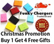 { Free Delivery ! Christmas Gifts !} FunkyChargers / Portable Charger / PowerBank / Gifts / Samsung / Iphone / Note / HTC / Blackberry / Free Stylus Screen Protector Handphone stand Christmas