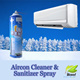 [Promotion]DIY Aircon Cleaner and Sanitizer Spray!For whom buying 3 bottles or above we will give a fiber tower as a gift worth $3.00