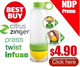 ☆READY STOCKS☆ Citrus Zinger Water Bottle. Healthier Hydration. OPENING Promotion For The Week Only!
