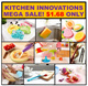 Mega Sale*More than 30 Innovative Kitchen Wares frm $1.68 only* Plates*Sponges*Spreader*Magic Cloth*Holder*Funnel* Drainer* Gadgets to improve lifestyle*New Chinese New Year Special items*