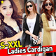 ★Ladies Cardigans Plus size S-XXL★ Hot korea style Basic women fashion Trend / Luxury SWEATERS KNITWEAR BLAZER JACKET OFFICE OUTER WEAR/See-through