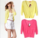 summer ultra-thin 7 Minutes Of Sleeve Blouses Candy Color Cotton Knitting Sweater Cardigan Women