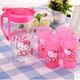 Hello Kitty Korean household kitchen plastic cup cold water bottles to send four large suite teapot 1.5 l