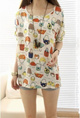 New arrival 2013 womens Summer new fashion print short-sleeve chiffion blouses shirts tops
