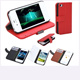 Fashion Wallet Case Flip Leather case Cover Stand with Card Holder for iPhone 4 4s 4g Black Red White  Brown