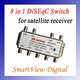 1pc GS-81S 8 in 1 8X1 DiSEqC Switch Satellites FTA TV LNB Switch for satellite receiver