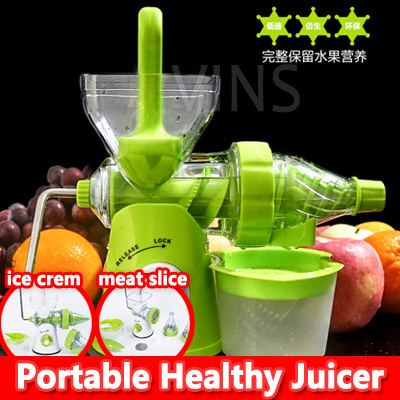 Qoo10 - Portable Manual Fruit Juicer Slow Fruit Juicer / Wheatgrass Juicer Ble... : Kitchen & Dining