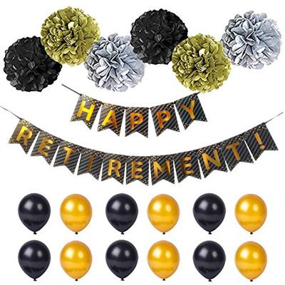 qoo10 ΚΕΡΑΤΟ happy retirement banner retirement party supplies