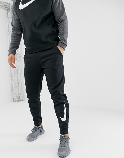 Official Website wholesale price new style 나이키 Nike Training Therma Tapered Swoosh Joggers In Black 932257-010